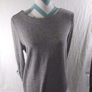 Merona Size Large Sweater Rolled Cuffs Dress